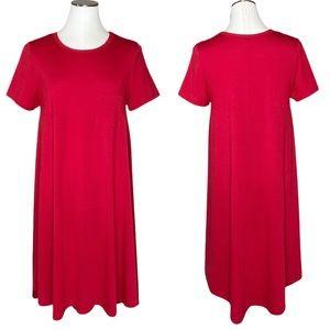 LulaRoe Carly Swing Dress in red size Medium